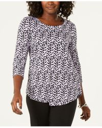 Macy's Jm Collection Printed T-shirt, Created For - Black