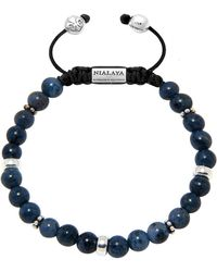 Nialaya Beaded Bracelet With Blue Dumortierite And Silver