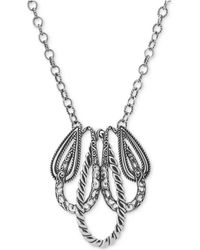 """Carolyn Pollack - """"lasting Connections"""" Pendant Necklace In Sterling Silver - Lyst"""