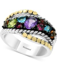 Effy Collection - Effy® Multi-gemstone Statement Ring (1-3/8 Ct. T.w.) In Sterling Silver & 18k Gold - Lyst