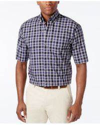 Cutter & Buck - Men's Big & Tall Nebula Check Short-sleeve Shirt - Lyst