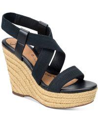 Söfft - Perla Wedge Leather Sandal - Lyst