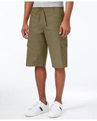 Sean John Men's Lightweight Linen Cargo Shorts, Only At Macy's - Green