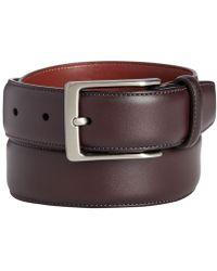 Perry Ellis Leather Amigo Dress Belt - Multicolour