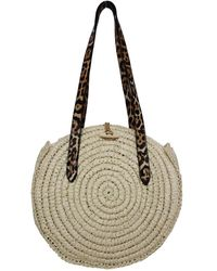 INC International Concepts Inc Melania Circle Straw Tote, Created For Macy's - Multicolor