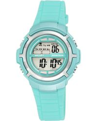 Armitron - Women's Digital Teal Strap Watch 38mm 45-7045tlgd - Lyst