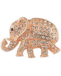 Carolee Mom's The Word Elephant Brooch - Metallic