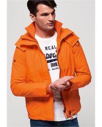 Superdry Hooded Technical Pop Zip Sd-windcheater - Orange