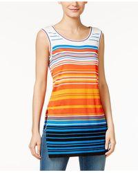 Cece by Cynthia Steffe - Cece Sleeveless Striped Jumper - Lyst