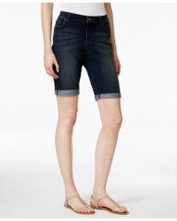 Vintage America - Boho Denim Bermuda Shorts - Lyst