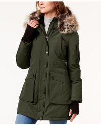BCBGeneration - Faux-fur-trim Hooded Parka - Lyst