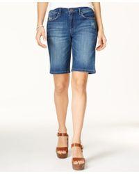 0efe5dc7d9f Jessica Simpson - Trendy Plus Size Maxwell Denim Bermuda Shorts - Lyst