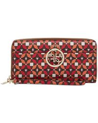 Guess - Devyn Large Zip Around Wallet - Lyst