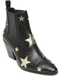 Betsey Johnson - Izak Star Western Booties - Lyst