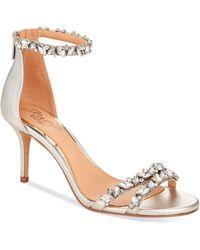 Badgley Mischka - Caroline Ankle-strap Evening Sandals - Lyst