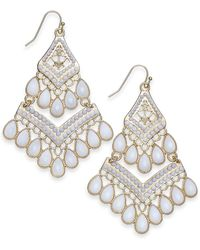 INC International Concepts - I.n.c. Gold-tone Bead Tassel Drop Earrings, Created For Macy's - Lyst