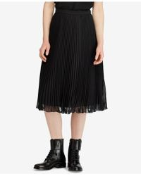 Polo Ralph Lauren - Georgette Pleated Skirt - Lyst