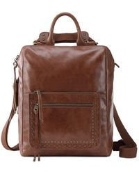 The Sak Loyola Leather Convertible Backpack - Brown