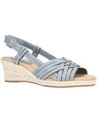 Easy Street Ora Wedge Sandals - Blue