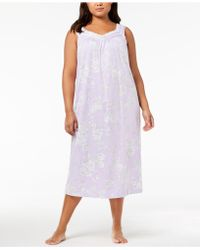 Charter Club - Plus Size Lace-trim Cotton Nightgown, Created For Macy's - Lyst