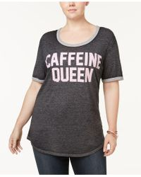 Hybrid Plus Size Caffeine Queen Top - Gray