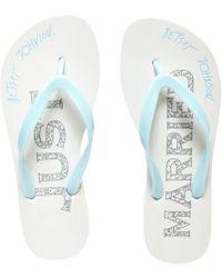 Betsey Johnson Amy Bridal Flip-flops - Blue