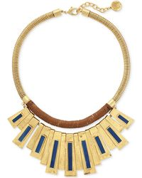 Vince Camuto - Gold-tone Cord-wrapped Multi-bar Statement Necklace - Lyst