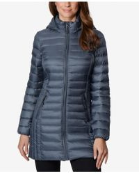 32 Degrees - Hooded Packable Down Puffer Coat - Lyst