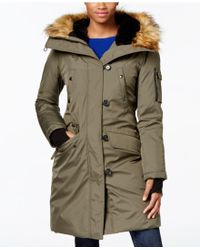 S13/nyc - Faux-fur-trim Hooded Down Parka - Lyst
