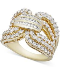 Wrapped in Love ? Diamond Statement Ring (2 Ct. T.w.) In Gold-plated Sterling Silver, Created For Macy's - Metallic
