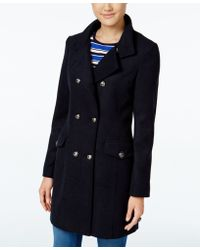 CoffeeShop - Double-breasted Military Peacoat - Lyst