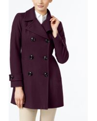 Anne Klein | Double-breasted Peacoat, Only At Macy's | Lyst
