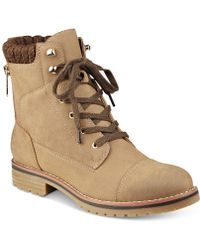 Tommy Hilfiger Omar Lace-up Booties - Brown