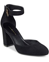 Tommy Hilfiger Elona Ankle-strap Pumps - Black