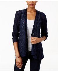 Style & Co. - Lace-trim Cardigan, Only At Macy's - Lyst