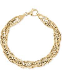 Macy's - Twist Link Bracelet In 10k Gold - Lyst