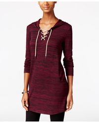 G.H.BASS - Hooded Lace-up Tunic - Lyst