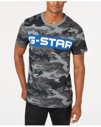 25bf0ce0aaa Lyst - G-Star Raw Men s Afrojack Graphic-print Logo T-shirt in White ...