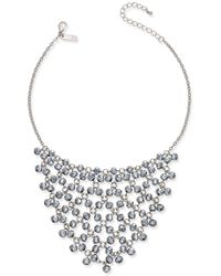 INC International Concepts - Silver-tone Hematite Bead Statement Necklace - Lyst
