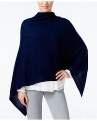 Charter Club Cashmere Poncho, Only At Macy's - Blue