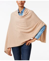 Charter Club Cashmere Poncho, Only At Macy's - Natural