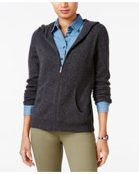 Charter Club Cashmere Zip-front Hoodie, Only At Macy's - Multicolor
