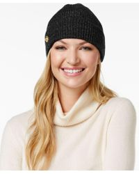 Anne Klein - Fisherman Rib-knit Cuff Hat - Lyst