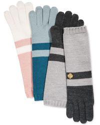 Anne Klein - Colorblock Long Knit Gloves - Lyst
