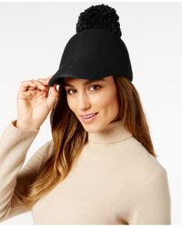 BCBGMAXAZRIA - Winter Pom Baseball Hat - Lyst