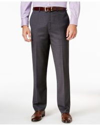Lauren by Ralph Lauren - Men's Classic-fit Tic-pattern Wool Dress Pants - Lyst