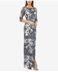 JS Collections - Illusion Lace Gown - Lyst