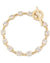 Carolee - Gold-tone Crystal Toggle Bracelet - Lyst