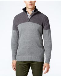 Tricots St Raphael - Men's Texture Colorblocked Quarter-zip Sweater - Lyst