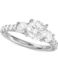 Macy's - Diamond Engagement Ring (2-5/8 Ct. T.w.) In 14k White Gold - Lyst